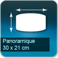 Panneaux Panoramique de 30 x 21 cm - entretoise acier fournis avec vis et chevilles pour fixation