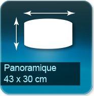Panneaux Panoramique de 43 x 30 cm - entretoise acier fournis avec vis et chevilles pour fixation