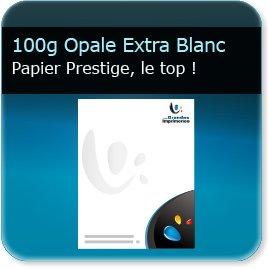 en tete grammage 100g Opale Extra Blanc Absolu - Compatible imprimante laser & jet d'encre