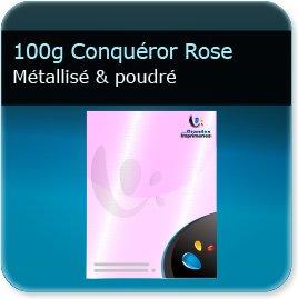 Lettres à en tête 100g Conquéror métallisé Rose Poudré - Compatible imprimante laser & jet d'encre