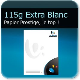en tete grammage 115g papier extra-blanc