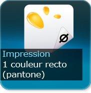 Liasse/Carnet autocopiant 1 Pantone recto