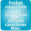 Correction orthographique 200000 Caractères max