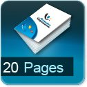 calculer le cout d impression pour brochure 20 pages