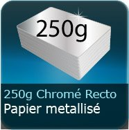 Cartes de visite 250g Chromolux Chrome recto