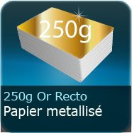 Cartes de visite 250g Chromolux Or recto