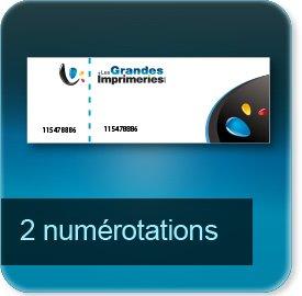 Carnets de tickets 2 numérotations