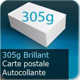 Cartes postales carte postale autocollante 305g  brillant