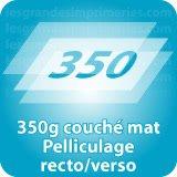 Autocollant & Étiquette 350g couché mat Pelliculage recto verso