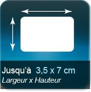 Autocollant & Étiquette Jusqu'à 35x70mm