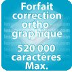 Correction orthographique 520000 Caractères max