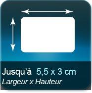 Autocollant & Étiquette Jusqu'à 55x30mm