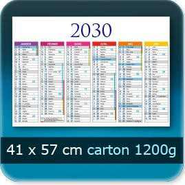 Calendriers 570x410mm carton 1200g