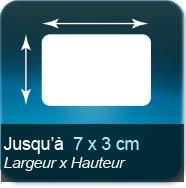 Autocollant & Étiquette Jusqu'à 70x30mm