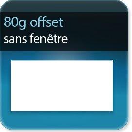 Enveloppes 80g Offset sans fenêtre