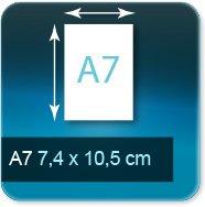 Autocollant & Étiquette A7  74x105mm