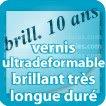 Autocollant & Étiquette Vernis brillant longue durée ultradeformable