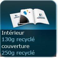 Brochures / Magazines Couverture250g Recyclé cyclus blanc  / Intérieur130g Recyclé cyclus blanc
