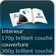 Brochures / Magazines Couverture 300g brillant / Intérieur 170g brillant