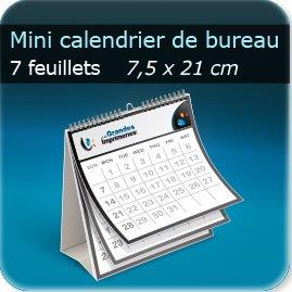 Calendrier personnalisé Mini calendrier bureau Spirales