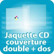 CD DVD Gravure & Packaging Jaquette CD Couverture double pliée + Dos