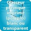 Classeur carton polypro Classeur Polypropylène