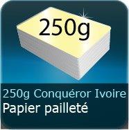 Cartes de visite 250g Conquéror métallisé Ivoir Doré