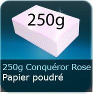 Cartes de visite 250g Conquéror métallisé Rose Poudré