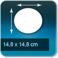 Autocollant & Étiquette diamètre 148 mm