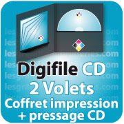 CD DVD Gravure & Packaging DigiFile CD 2 VOLETS