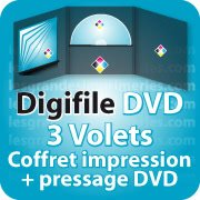 CD DVD Gravure & Packaging DigiFile DVD 3 VOLETS