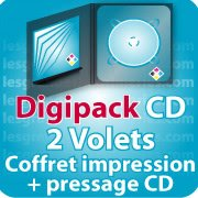 CD DVD Gravure & Packaging Digipack CD 2 VOLETS