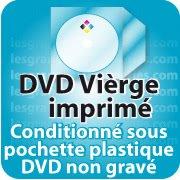 CD DVD Gravure & Packaging Impression DVD vièrges livré sous pochette plastique