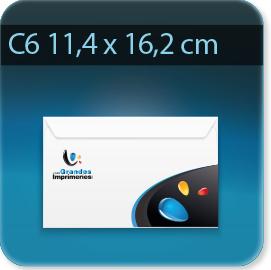 Enveloppes Enveloppe C6 114 X 162 mm, Fermeture Patte trapézoïdale autocollante avec bande de protection