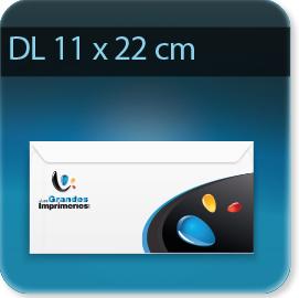 Enveloppes Enveloppe DL 110 X 220 mm, Fermeture Patte trapézoïdale autocollante avec bande de protection