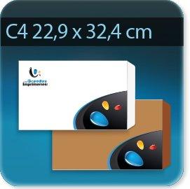 Enveloppes C4 229 X 324mm, Fermeture Patte trapézoïdale autocollante avec bande de protection