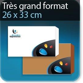Enveloppes Tres grand format 260 X 330 mm, Fermeture Patte trapézoïdale autocollante avec bande de protection