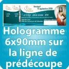 Carnets de tickets Hologramme 7.2x75 mm a cheval sur la ligne predécoupe