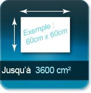 Autocollant & Étiquette jusqu à 3600 cm²