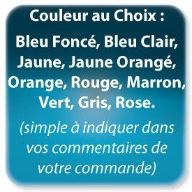 Autocollant & Étiquette 10 couleurs au choix (Bleu foncé, Bleu clair, Jaune, Jaune orangé, Orange, Rouge, Marron, Vert, Gris, Rose)