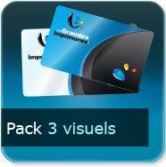 Badge Option Prix pour 3 visuels différents (quantité représente le totale des 3 visuels)