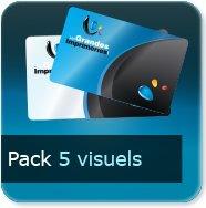 Badge Option Prix pour 5 visuels différents (quantité représente le totale des 5 visuels)