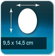 Autocollant & Étiquette ovale 95x145mm