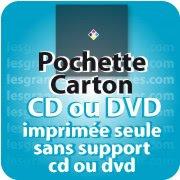 CD DVD Gravure & Packaging Pochette carton imprimée seule pour cd&dvd
