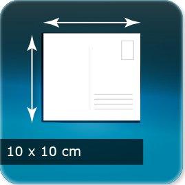 carte postale personnalisée 100x100mm