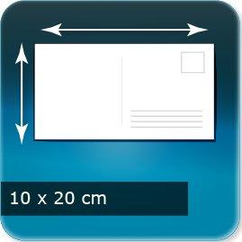carte postale personnalisée 200x100mm