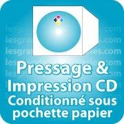 CD DVD Gravure & Packaging Pressage de CD livré sous pochette papier