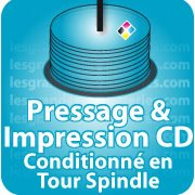 CD DVD Gravure & Packaging Pressage de CD livré sous Spindle