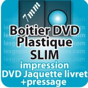 CD DVD Gravure & Packaging Pressage DVD boitier SLIM7mm