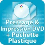 CD DVD Gravure & Packaging Pressage de DVD livré sous pochette plastique